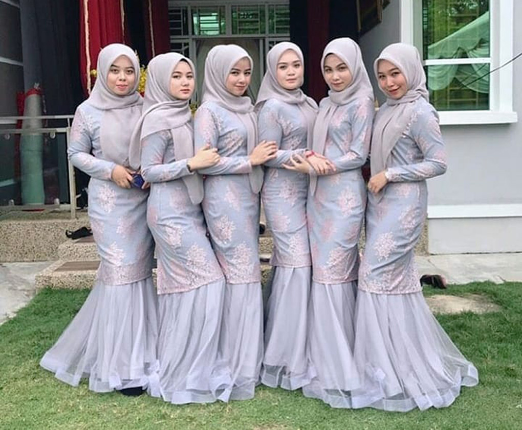 Baju Bridesmaid Lace Dusty Purple