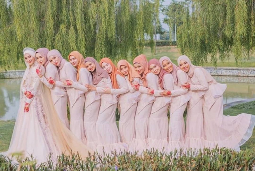 Baju Bridesmaid Peach Cair