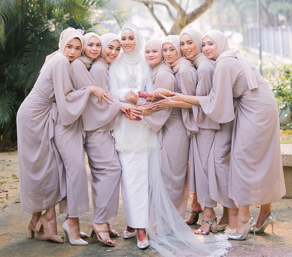 Baju Bridesmaid Dusty Lavender