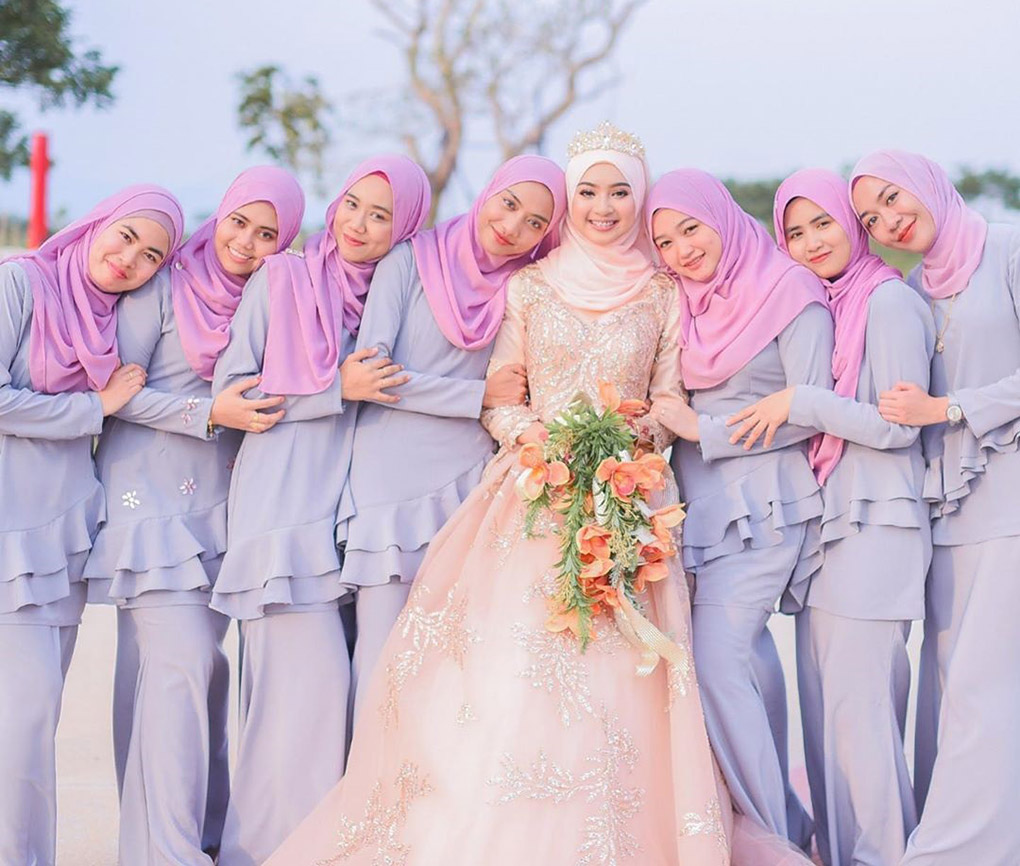 Baju Bridesmaid Lavender & pink