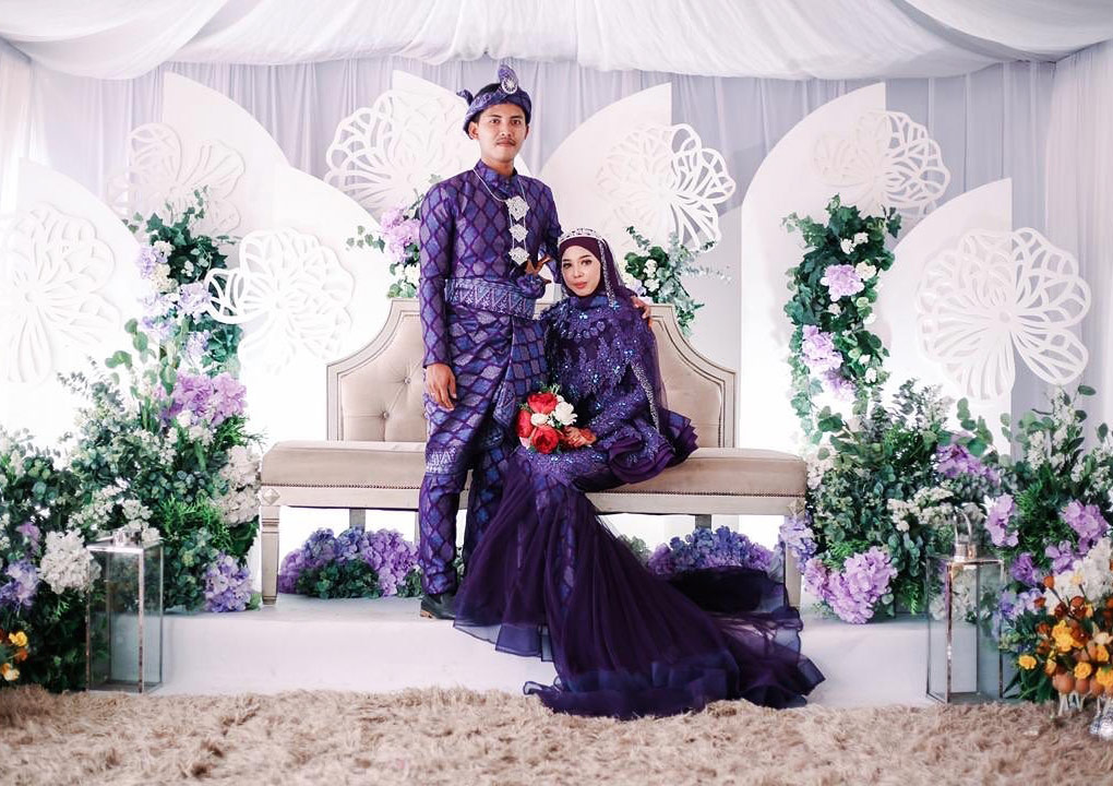 Baju Songket Wedding by Fiqaabu