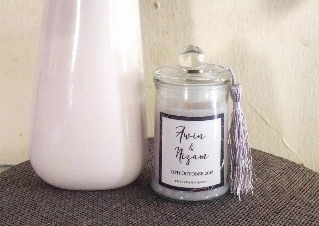 Doorgift Scented Candle