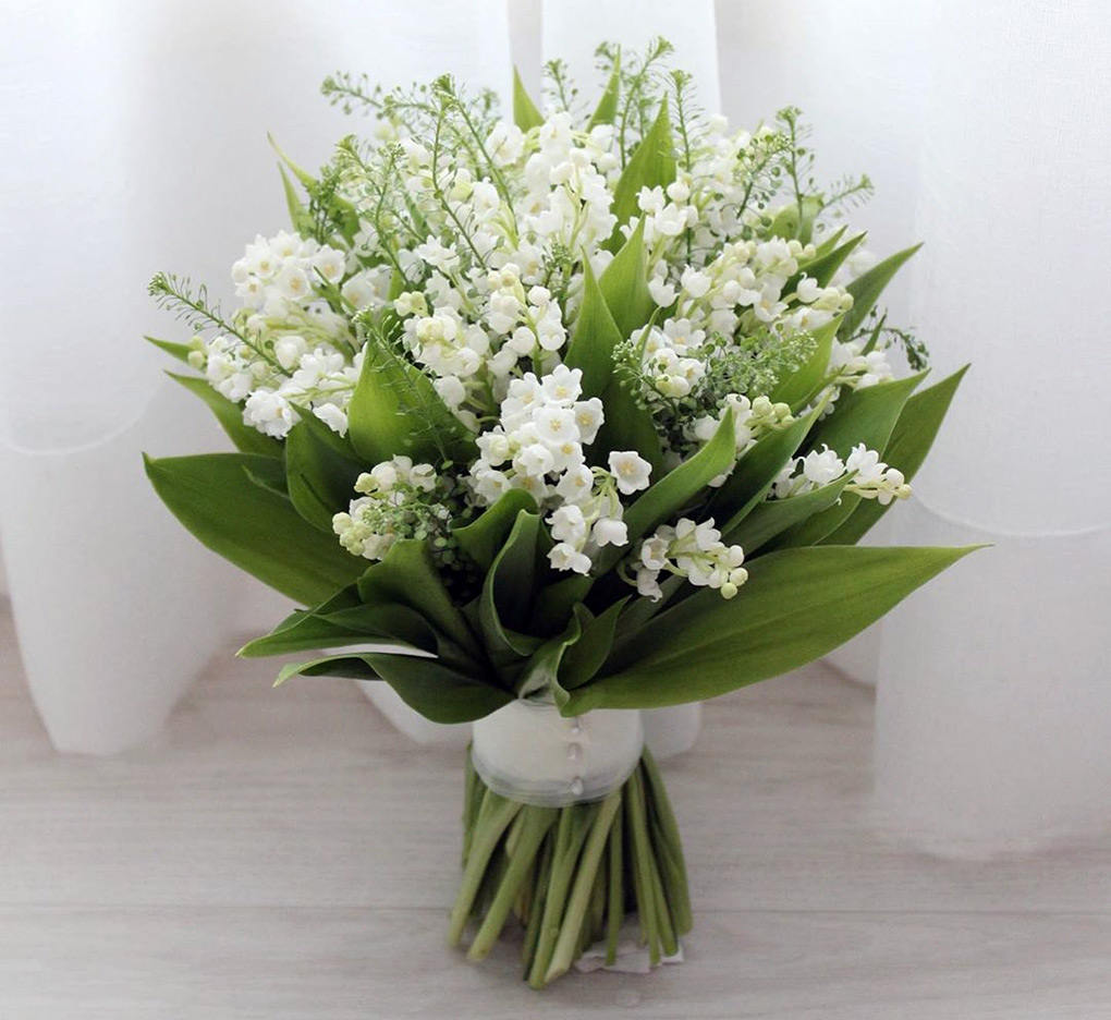 Bunga Tangan Lily Of The Valley